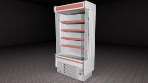 3D presentation of refrigirated shelves