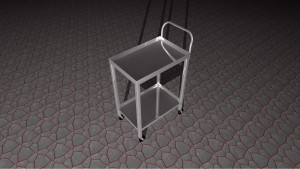 Custom-made metal trolley