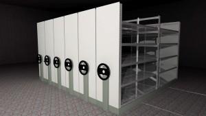 "Mobile archive rack ""MOBIBASIC"""