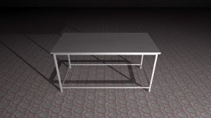 Custom metal worktable