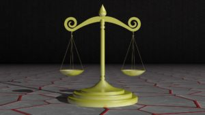 Scales of justice 3D model